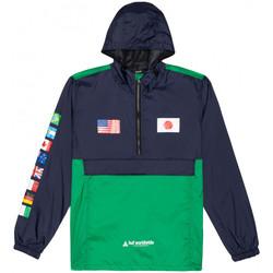 Textil Homem Corta vento Huf Jacket flags anorak Azul