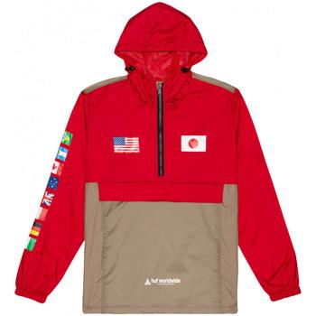 Textil Homem Corta vento Huf Jacket flags anorak Vermelho