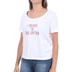 Textil Mulher T-Shirt mangas curtas Pieces  Branco