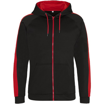 Textil Homem Sweats Awdis JH066 Jet Black/Fire Red