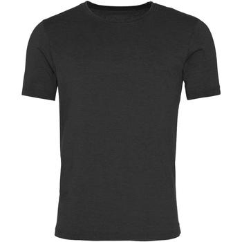 Textil Homem T-Shirt mangas curtas Awdis JT099 Jet Black lavado