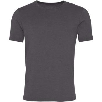 Textil Homem T-Shirt mangas curtas Awdis JT099 Carvão Vegetal Lavado