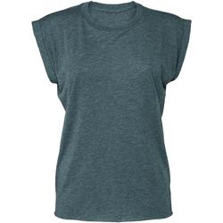 Textil Mulher T-Shirt mangas curtas Bella + Canvas BE8804 Heather Teal