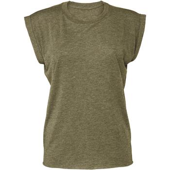 Textil Mulher T-Shirt mangas curtas Bella + Canvas BE8804 Heather Olive
