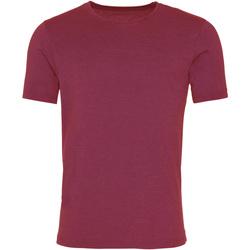 Textil Homem T-Shirt mangas curtas Awdis JT099 Borgonha lavada