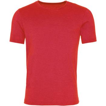 Textil Homem T-Shirt mangas curtas Awdis JT099 Vermelho Fogo Lavado