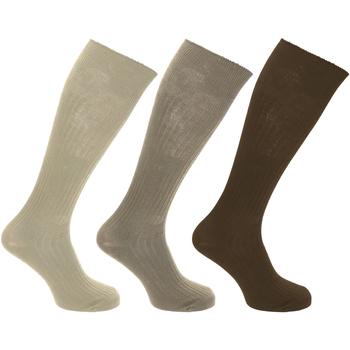 Acessórios Homem Meias Universal Textiles  Marrom/Cinza claro/Creme