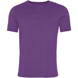 Textil Homem T-Shirt mangas curtas Awdis JT099 Púrpura lavada