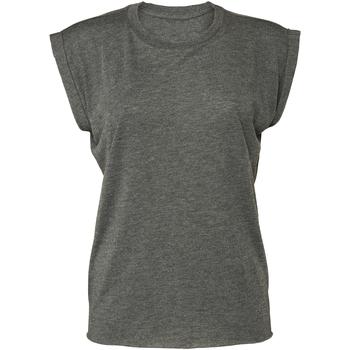 Textil Mulher T-Shirt mangas curtas Bella + Canvas BE8804 Cinza Escura Heather