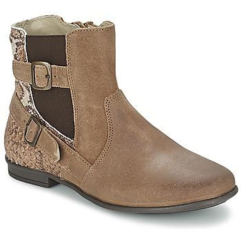 Sapatos Rapariga Botas baixas Aster DESIA Toupeira / Estampado