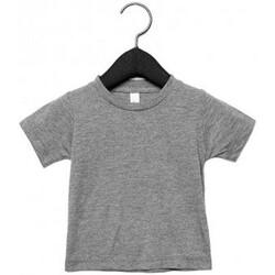 Textil Criança T-Shirt mangas curtas Canvas CA3413T Triblend cinzento