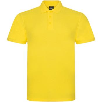 Textil Homem Polos mangas curta Prortx RX101 Amarelo