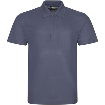 Textil Homem Polos mangas curta Prortx RX101 Cinza sólido