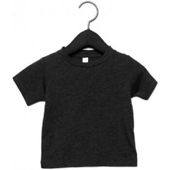 Textil Criança T-Shirt mangas curtas Canvas CA3413T Triblend Preto Carvão Vegetal