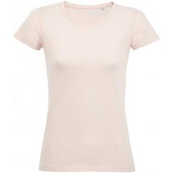 Textil Mulher T-Shirt mangas curtas Sols 02077 Rosa Cremosa