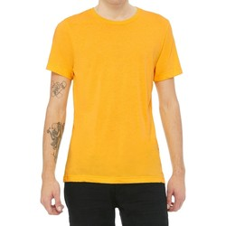 Textil T-Shirt mangas curtas Bella + Canvas CV3413 Triblend de Ouro Amarelo
