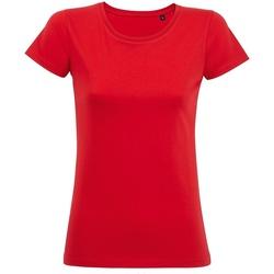 Textil Mulher T-Shirt mangas curtas Sols 02077 Vermelho