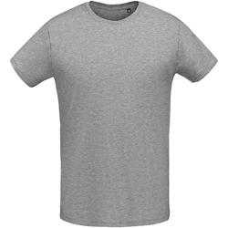 Textil Homem T-Shirt mangas curtas Sols 02855 Grey Marl