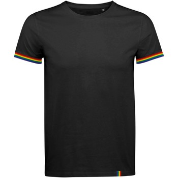Textil Homem T-Shirt mangas curtas Sols 03108 Preto Profundo/Multicolor