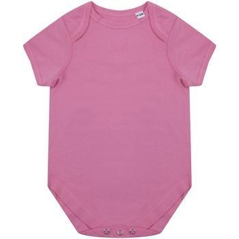 Textil Criança Macacões/ Jardineiras Larkwood LW655 Cor-de-Rosa Brilhante