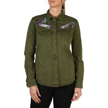 Textil Mulher casacos de ganga Guess - w83h54 Verde