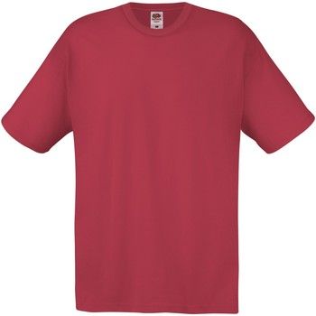 Textil Homem T-Shirt mangas curtas Fruit Of The Loom SS12 Vermelho tijolo