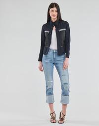 Textil Mulher Calças Jeans G-Star Raw NOXER HIGH STRAIGHT WMN Azul