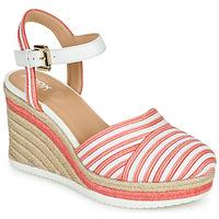 Sapatos Mulher Sandálias Geox D PONZA Vermelho / Branco