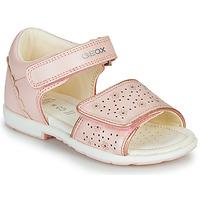 Sapatos Rapariga Sandálias Geox B VERRED Rosa