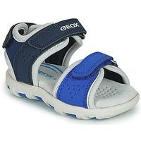 Sapatos Rapaz Sandálias Geox B SANDAL PIANETA Azul
