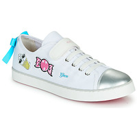 Sapatos Rapariga Sapatilhas Geox JR CIAK FILLE Branco / Prata