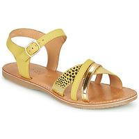 Sapatos Rapariga Sandálias Geox J SANDAL EOLIE GIRL Amarelo / Ouro
