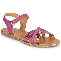 Sapatos Rapariga Sandálias Geox J SANDAL EOLIE GIRL Rosa / Ouro