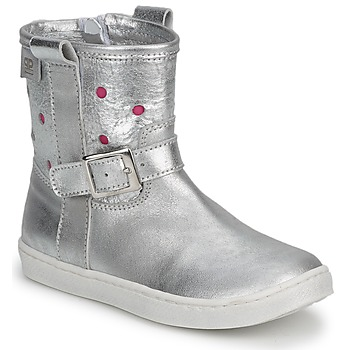 Sapatos Rapariga Botas baixas Pinocchio  Prata / Fucia
