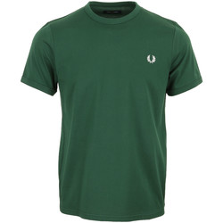 Textil Homem T-Shirt mangas curtas Fred Perry Ringer T-Shirt Verde