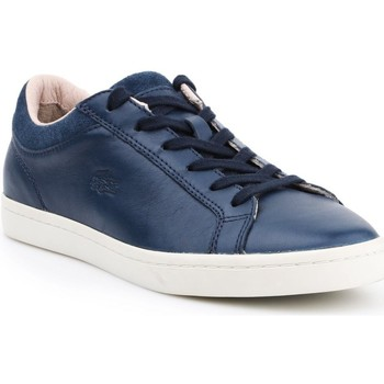 Sapatos Mulher Sapatilhas Lacoste Straightset Branco, Azul marinho