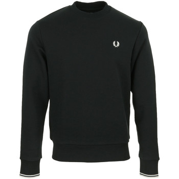 Textil Homem Sweats Fred Perry Crew Neck Sweatshirt Preto
