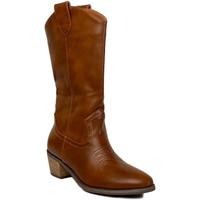Sapatos Mulher Botas Prisska TY1036 Camel