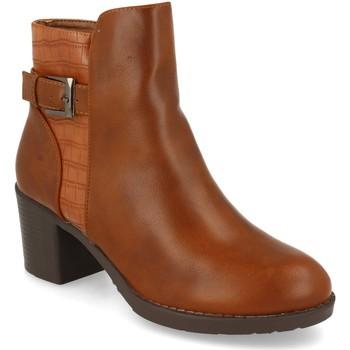 Sapatos Mulher Botins Prisska YC8350 Camel