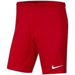 Textil Rapaz Calças curtas Nike JR Park Iii Knit Vermelho
