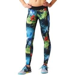 Textil Mulher Calças Reebok Sport Rcf Rev Chase Tight Branco, Verde, Azul