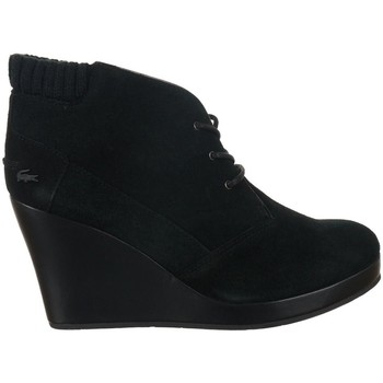 Sapatos Mulher Botins Lacoste Leren 4 Preto