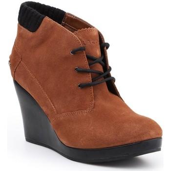 Sapatos Mulher Botas baixas Lacoste Leren 7-26SRW4204013 brown