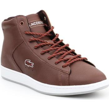 Sapatos Mulher Sapatilhas de cano-alto Lacoste Carnaby EVO 7-30SPW411377T brown