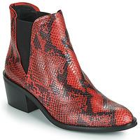 Sapatos Mulher Botas baixas Fericelli NIAOW Preto / Vermelho