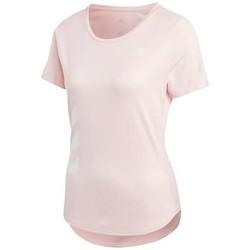 Textil Mulher T-Shirt mangas curtas adidas Originals Run IT Tee 3S W Cor-de-rosa