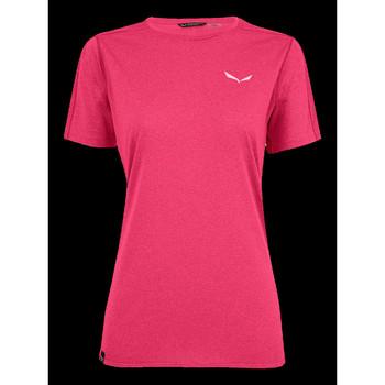 Textil Mulher T-Shirt mangas curtas Salewa Pedroc 3 DRY W S/S TEE 27726-6385 pink