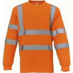 Textil T-shirt mangas compridas Yoko T-Shirt manches longues  Haute Visibilité orange