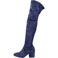 Sapatos Mulher Botas Accademia stivali velluto Blu