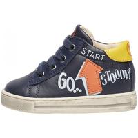 Sapatos Rapaz Sapatilhas Falcotto - Polacchino blu/giallo/aran HOGWA-1C58 BLU